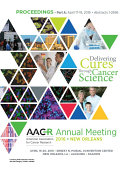 AACR 2016: Abstracts 1-2696: