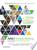 """AACR 2016: Abstracts 1-2696"" by American Association for Cancer Research (AACR)"