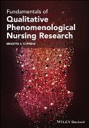 Fundamentals of Qualitative Phenomenological Nursing Research [Pdf/ePub] eBook