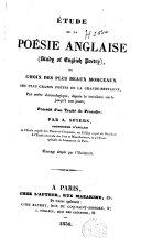 Pdf Etude de la poésie anglaise ou Choix des plus beaux morceaux des plus grands poètes de la Grande-Bretagne