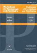 Dictionary of Psychology and Psychiatry