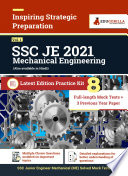 SSC JE  Mechanical Engineering  2021   Gorilla Series   8 Full length Mock Tests   3 Previous Year Papers