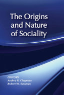 Pdf The Origins and Nature of Sociality Telecharger