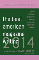 The Best American Magazine Writing 2014