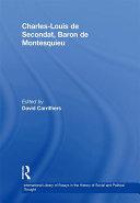 """Charles-Louis de Secondat, Baron de Montesquieu """