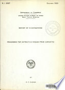 Processes for Extracting Radium from Carnotite Book