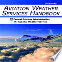 Aviation Weather Services Handbook Book PDF