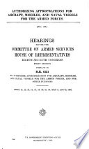 Hearings ... on Sundry Legislation Affecting the Naval and Military Establishments