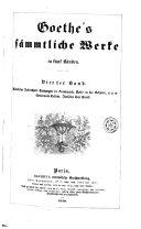 Goethe's sämmtliche Werke in fünk Bänden