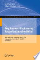 Requirements Engineering Toward Sustainable World