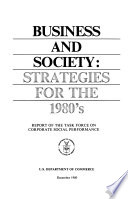 Business and Society, Strategies for the 1980's