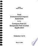 Compass Port Llc Deepwater Port License Application
