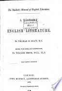 A History of English Literature by Thomas B  Shaw