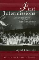 First Intermissions