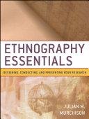 Ethnography Essentials