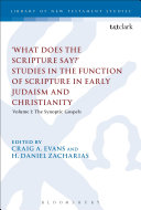 What Does the Scripture Say?' Studies in the Function of Scripture in Early Judaism and Christianity ebook