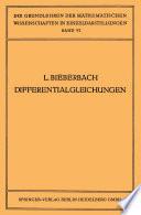Theorie der Differentialgleichungen