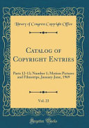 Catalog Of Copyright Entries Vol 23