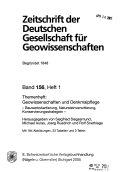 Zeitschrift der Deutschen Gesellschaft f  r Geowissenschaften