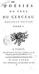 Poésies du Pere Du Cerceau. Tome 1. [-2.]