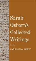 Sarah Osborn s Collected Writings