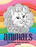 Zen Coloring Books for Adults   Animals   Easy Level