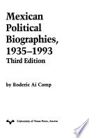 Mexican political biographies, 1935-1993