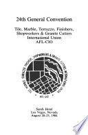 Proceedings ... General Convention of the Tile, Marble, Terrazzo, Finishers and Shopmen International Union