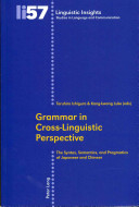 Grammar In Cross Linguistic Perspective