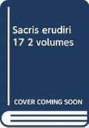 Sacris Erudiri 17 2 Volumes