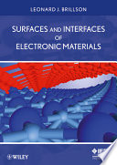 Surfaces And Interfaces Of Electronic Materials Book PDF