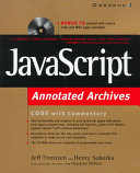 JavaScript Annotated Archives