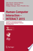 Human Computer Interaction     INTERACT 2015