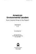 American Environmental Leaders  L Z Book PDF