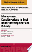 Beef Heifer Development An Issue Of Veterinary Clinics Food Animal Practice  Book PDF