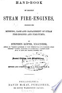 Hand book of Modern Steam Fire engines Book