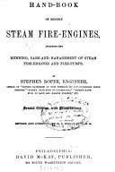 Hand book of Modern Steam Fire engines
