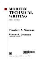 Modern Technical Writing