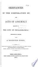 Ordinances of the City of Philadelphia Book