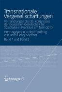 Transnationale Vergesellschaftungen: Verhandlungen des 35. ...