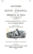 Discoveries in Egypt, Ethiopia and the Peninsula of Sinai, in the Years 1842-1845