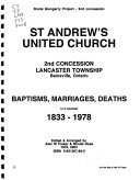 St  Andrew s United Church  2nd Concession  Lancaster Township  Bainsville  Ontario