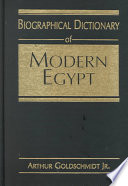 Biographical Dictionary of Modern Egypt