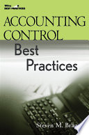 """""""Accounting Control Best Practices"""" by Steven M. Bragg"""