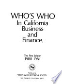 Who's who in California Business and Finance