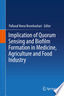 Implication of Quorum Sensing and Biofilm Formation in Medicine  Agriculture and Food Industry