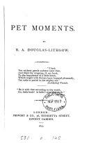 Pet moments [verse].