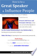 How to be a Great Speaker and Infuence People