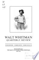 Walt Whitman Quarterly Review  , Volume 17