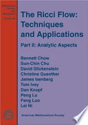 Cover of The Ricci Flow: Analytic aspects